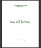 Giáo trình Giao tiếp Sư Phạm - Lê Thanh Hùng (biên soạn) (ĐH An Giang)