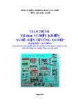 Giáo trình Vi điều khiển - Nghề: Điện tử công nghiệp - Trình độ: Cao đẳng (Tổng cục Dạy nghề)