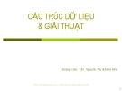 Giới thiệu môn học Cấu trúc dữ liệu và giải thuật - ThS. Nguyễn Thị Khiêm Hòa (ĐH Ngân hàng TP.HCM)