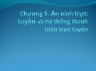Bài giảng Thương mại điện tử: Chương 5 - ThS. Trương Việt Phương