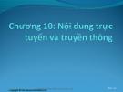 Bài giảng Thương mại điện tử: Chương 10 - ThS. Trương Việt Phương