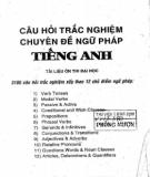 Ebook Câu hỏi trắc nghiệm chuyên đề Ngữ pháp tiếng Anh - Vĩnh Bá