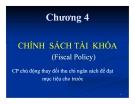 Bài giảng Kinh tế vĩ mô: Chương 4 - TS. Phan Nữ Thanh Thủy