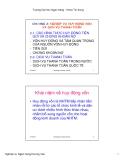 Bài giảng Nghiệp vụ ngân hàng thương mại: Chương 2, 3 - ĐH Ngân hàng