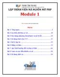 Giáo trình Lập trình viên mã nguồn mở PHP (Module 1) - TTTH ĐH KHTN