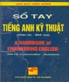 Ebook Sổ tay tiếng Anh Kỹ thuật: Phần 1 -  NXB Tp. Hồ Chí Minh