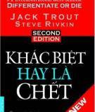 Ebook Khác biệt hay là chết - Jack Trout