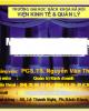 Bài giảng Marketing dịch vụ̣ -  Nguyễn Văn Thanh