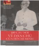 Ebook 100 câu nói về dân chủ của Hồ Chí Minh: Phần 2 - Nguyễn Khắc Mai