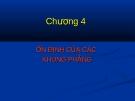 Bài giảng Ổn định công trình - Chương 4: Ổn định của các khung phẳng
