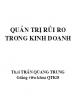 Ebook Quản trị rủi ro trong kinh doanh - Th.S. Trần Quang Trung