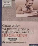 Ebook Quan điểm và phương pháp nghiên cứu văn thơ Hồ Chí Minh: Phần 1 - Nguyễn Đăng Mạnh