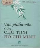 Ebook Tác phẩm văn của Chủ tịch Hồ Chí Minh: Phần 1 - Hà Minh Đức