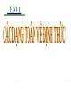Bài giảng Toán cao cấp: Bài 1 - Các dạng toán về định mức
