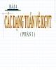 Bài giảng Toán cao cấp: Bài 4 - Các dạng toán về KGVT
