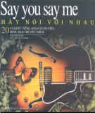 Ebook Say you say me - Hãy nói với nhau: Phần 1 - Đào Ngọc Dung