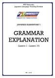 Giáo trình Japanese Elementary I  Grammar Explanation