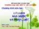 Bài giảng Lý luận nhà nước và pháp luật - Trần Thị Mai Phước