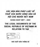 Ebook Các văn bản pháp luật về thuế của nước Cộng hòa xã hội chủ nghĩa Việt Nam: Phần 1