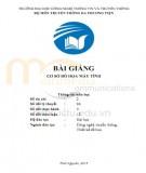 Bài giảng Dựng hình 3D nâng cao: Phần 1 - Trần Nguyễn Duy Trung
