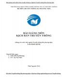 Bài giảng Kịch bản truyền thông: Phần 1 - ThS. Đỗ Thị Phượng, Tạ Thị Thảo