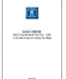 Giáo trình  Thực hành dịch Trung - Việt