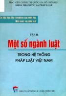 Ebook Tài liệu học tập và nghiên cứu môn học Nhà nước và pháp luật (Tập 2): Một số ngành luật trong hệ thống pháp luật Việt Nam: Phần 1