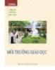 Ebook Môi trường giáo dục - PGS.TS. Phạm Hồng Quang