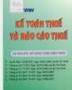 Giáo trình Kế toán thuế và báo cáo thuế: Phần 2