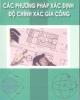 Giáo trình Các phương pháp xác định độ chính xác gia công: Phần 2 - Trần Văn Địch