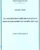 Luận án tiến sĩ Kinh tế: Các giải pháp phát triển đội ngũ quản lý trong doanh nghiệp vận tải biển Việt Nam