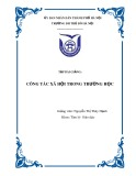 Tập bài giảng Công tác xã hội trường học - Nguyễn Thị Thúy Hạnh