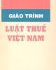 Giáo trình Luật thuế Việt Nam - NXB Công an nhân dân