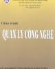 Giáo trình Quản lý công nghệ - Nguyễn Đăng Dậu, Nguyễn Xuân Tài