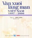 Ebook Văn xuôi lãng mạn Việt Nam 1887-2000 (Tập I - 1887-1932: Quyển 1): Phần 1