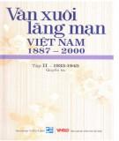 Ebook Văn xuôi lãng mạn Việt Nam 1887-2000 (Tập II - 1933-1945: Quyển 3): Phần 1
