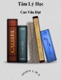 Ebook Tâm lý học - Cao Văn Đạt