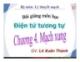 Bài giảng môn Điện tử tương tự: Chương IV - GV. Lê Xuân Thành