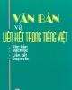 Ebook Văn bản và liên kết trong Tiếng Việt - Diệp Doang ban