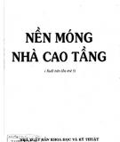 Ebook Nền móng nhà cao tầng - GS.TSKH. Nguyễn Văn Quảng