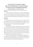 XÂY DỰNG BỘ CÂU HỎI TRẮC NGHIỆM MÔN CÔNG NGHỆ KIM LOẠI TẠI TRƯỜNG ĐẠI HỌC   SƯ PHẠM KỸ THUẬT THÀNH PHỐ HỒ CHÍ MINH