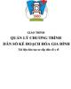 Giáo trình Quản lý chương trình dân số kế hoạch hóa gia đình: Phần 1 - CĐ Y tế Hà Đông