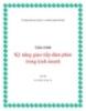 Giáo trình Kỹ năng giao tiếp đàm phán trong kinh doanh - GS.TSKH Vũ Huy Từ