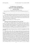 Vấn đề Đảng cầm quyền trong tư tưởng Hồ Chí Minh/Mạch Quang Thắng, Tạp chí Đại học Thủ Dầu Một, Số 2(33)-2017