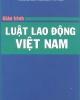 Giáo trình Luật lao động Việt Nam - NXB Công an nhân dân