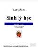 Bài giảng Sinh lý học khoa nội: Phần 2 - CĐ Y tế Quảng Nam