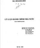 Giáo trình Lý luận hành chính nhà nước: Phần 1 - PGS.TS. Nguyễn Hữu Hải (chủ biên)