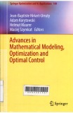 Advances in Mathematical Modeling, Optimization and Optimal Control