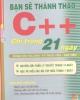 Ebook Bạn sẽ thành thạo C++ chỉ trong 21 ngày - Đậu Quang Tuấn