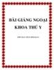 Bài giảng ngoại khoa thú y - Trần Minh Quan